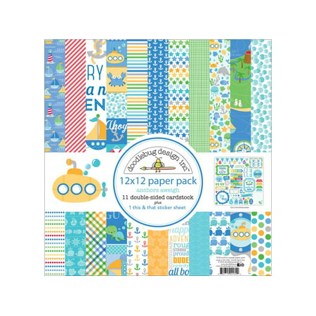 Doodlebug Anchors Aweigh Paper Pack 12x12