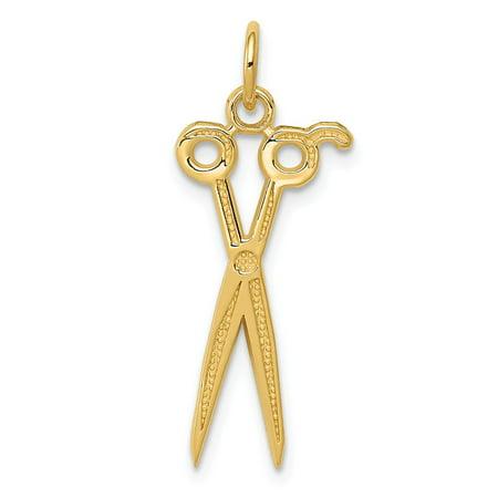 14k Yellow Gold Scissors Charm