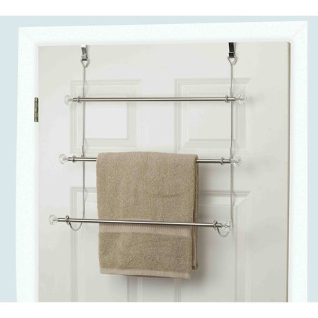 Over Shower Door Towel Rack (Home Basics 3-Tier Chrome-Plated Steel Over the Door Towel Rack )