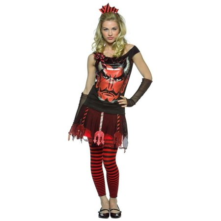 Halloween Face Paint Devil Girl (Faces Devil Teen Costume)