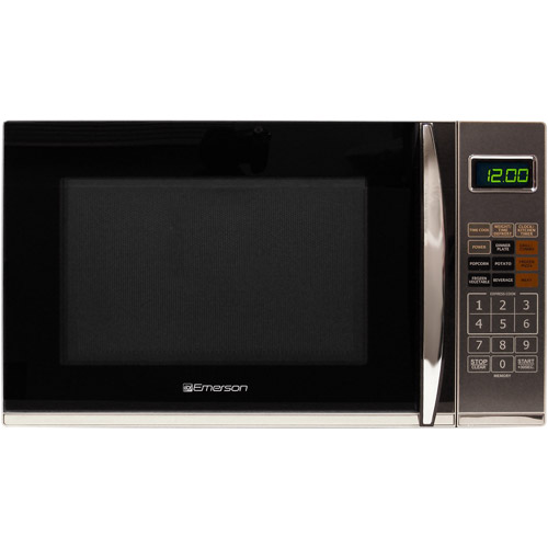 Refurbished Emerson 1.2 cu ft Microwave with Grill, Black by EMERSON