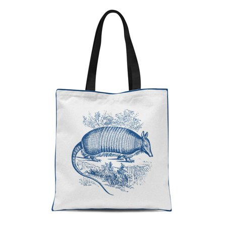 ASHLEIGH Canvas Tote Bag Southwest Vintage Armadillo Antique Woodblock Lover Western Amercian Reusable Handbag Shoulder Grocery Shopping Bags