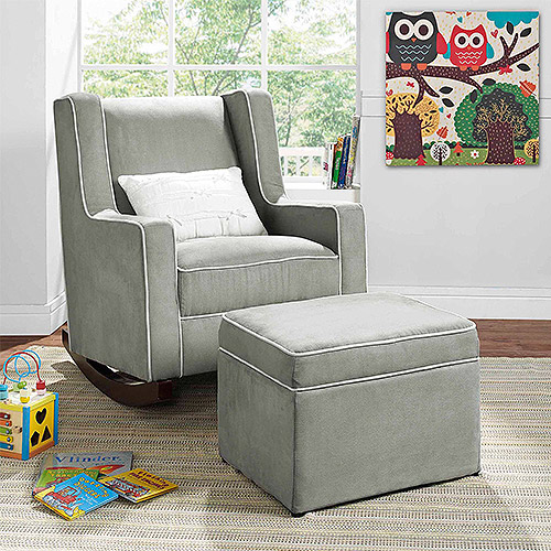 Baby Relax Abby Rocker and Ottoman Set, Choose Your Color