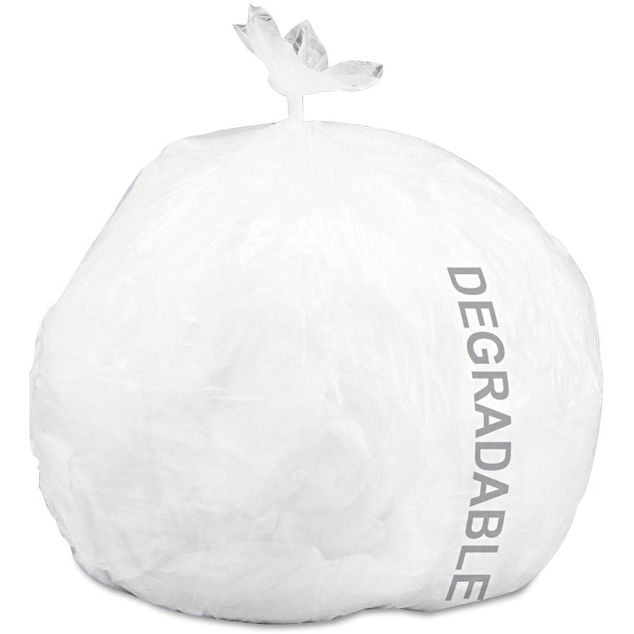 Stout Ecodegradable White Medium Strength Bags, 13 gal, 120 ct