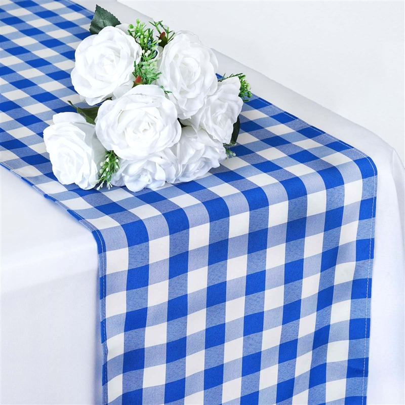 "BalsaCircle 14"" x 108"" Gingham Checkered Table Runner Party Linens by"