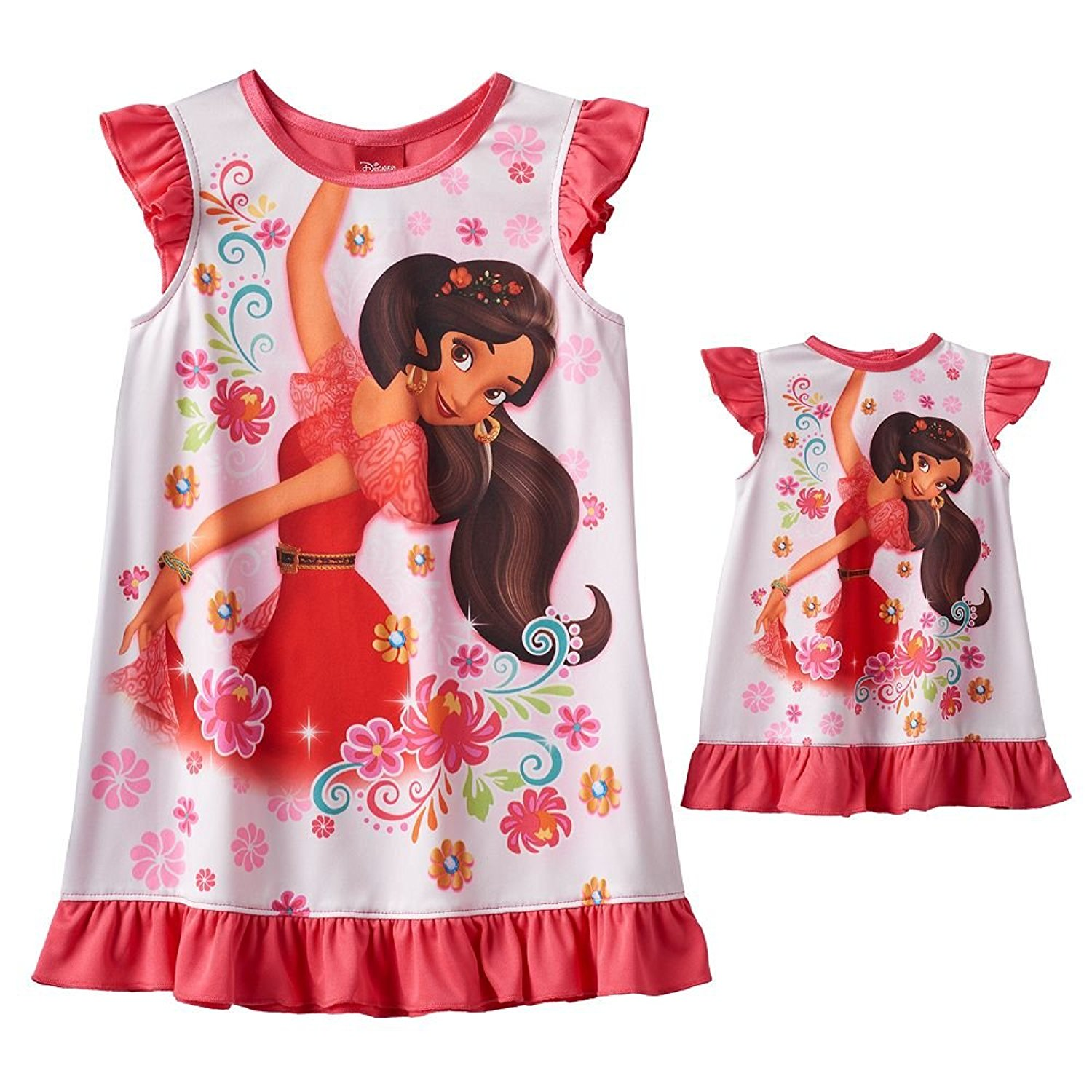Disney Girls Elena of Avalor Nightgown with Matching Doll Gown