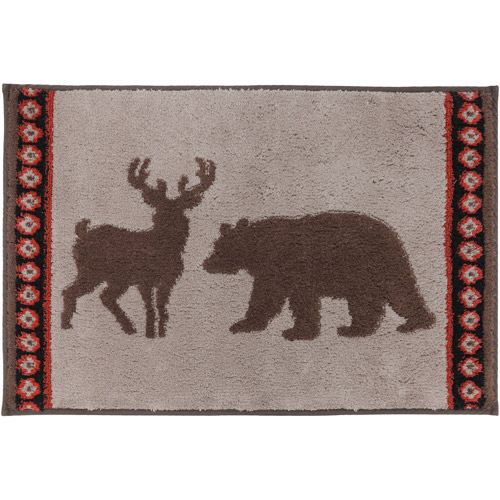 "Better Homes and Gardens Deer Stripe Bath Rug, 1'8"" x 2'6"" by Riviera"