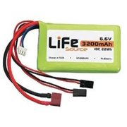 HOBBICO LiFeSource LiFe 6.6V 3200mAh 10C Rx U Connector HCAM6446
