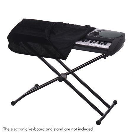 61/76 Keys Electronic Piano Keyboard Dust Cover Black Soft Cloth Anti-Dust Protector Washable - image 2 of 6