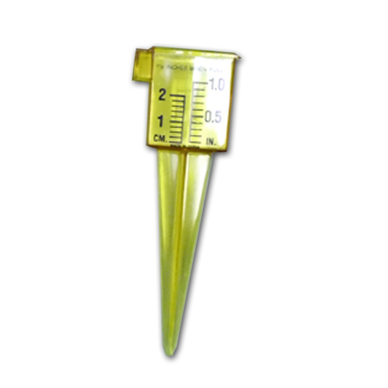 """Taylor 2728 2 For 1 Sprinkler And Rain Gauge Stake, Yellow, 2"""" by"""