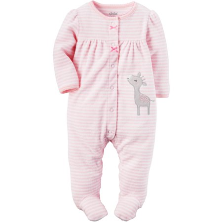 Child of Mine By Carters Newborn Baby Girl Terry Sleep N Play