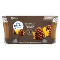 Glade® Jar Candle Air Freshener, Cashmere Woods®, 6.8oz, 2 ct