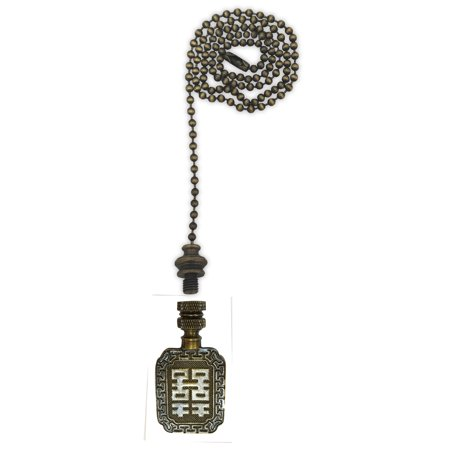 Antique Cheese - Royal Designs Fan Pull Chain with Chinese Joy Symbol Finial – Antique Brass