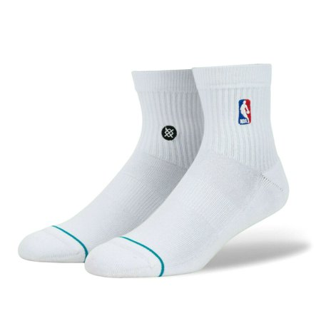 - Stance Men's NBA Logoman Quarter Socks White