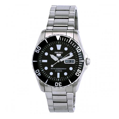 Seiko Men's SNZF17K1 5 Sports Silvertone Automatic Watch