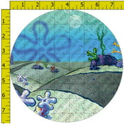 "SpongeBob SquarePants Krabby Patty Edible Cake Topper Image [DecoSet Background Only] 8"" Round"
