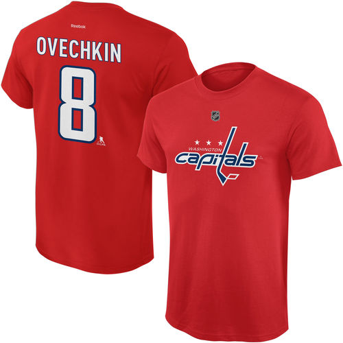 Youth Reebok Alexander Ovechkin Red Washington Capitals Name and Number Player T-Shirt