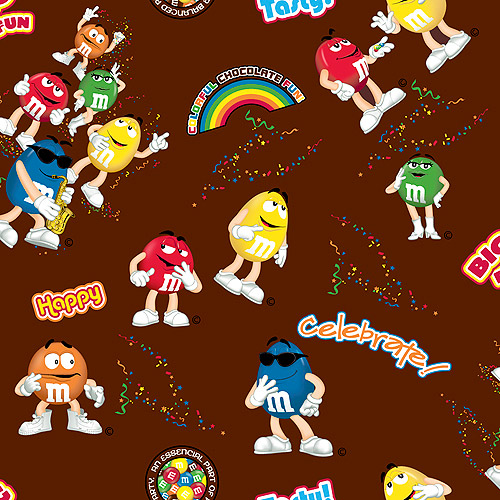 M&Ms Funfetti Allover Fabric