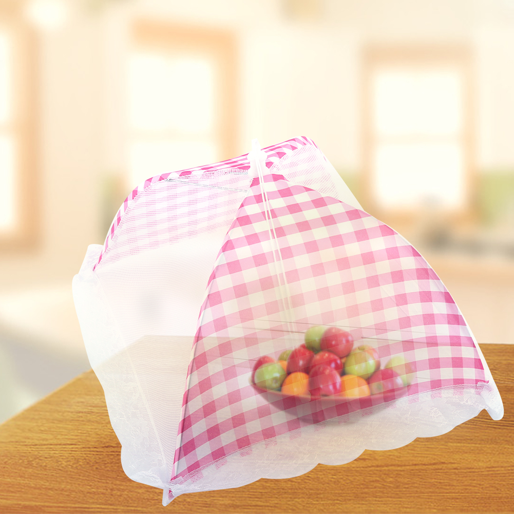 Collapsible Food Umbrella Cover Pop Up Dome Mesh Fly Wasp Insect Net BBQ Kitchen Tool 32x31cm, Food Mesh Umbrella, food umbrella cover