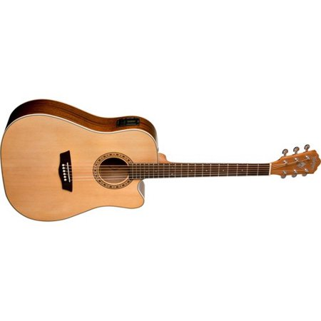 Ash Cutaway - Washburn WD7SCE Harvest 7 Series Cutaway Dreadnought Acoustic-Electric Guitar