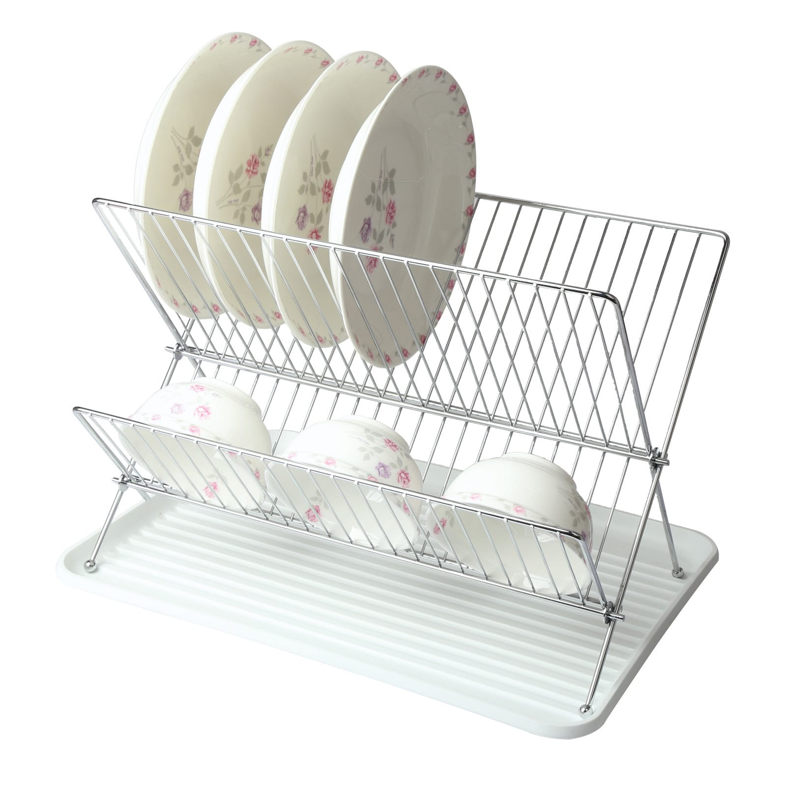 Mega Chef Wire Dish Rack With Tray