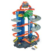 Hot Wheels City Ultimate Garage Playset with 2 Toy Cars & Robo-Dinosaur