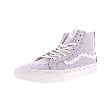 cfa8f708ec970 Vans Sk8-Hi Slim Zip Leather Wind Chime   Blanc De Blance High-Top  Skateboarding Shoe - 8.5M 7M - Walmart.com