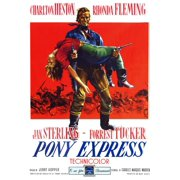 Pony Express Rhonda Fleming Charlton Heston 1953 Movie Poster Masterprint by Everett Collection