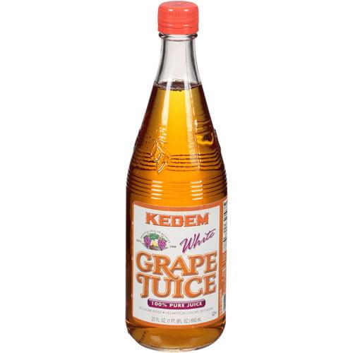 Kedem White Grape Juice, 22 fl oz, (Pack of 6)