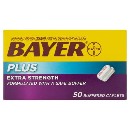 Bayer Plus Extra Force Aspirine Analgésique / Fièvre Réducteur Buffered Caplets, 50 count