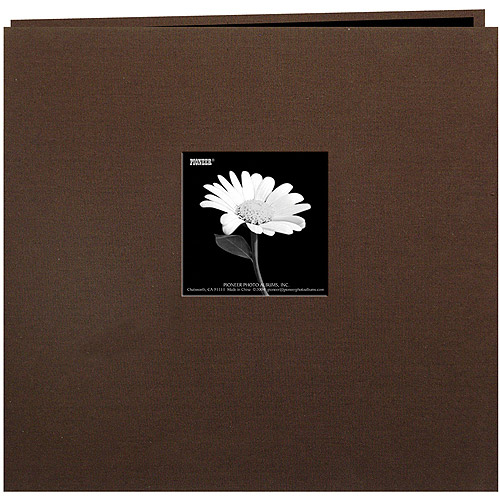 "Book Cloth Cover Postbound Album With Window, 8"" x 8"""