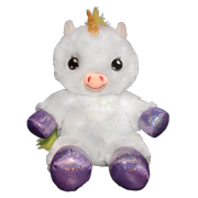 "Lullabrites 11.75"" Unicorn Plush Toy"
