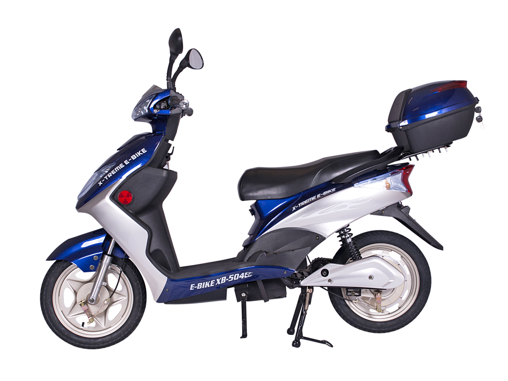X-Treme XB-504 Electric Bicycle Scooter Moped Blue by X-Treme Scooters