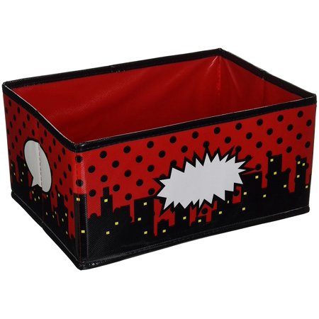 Superhero Small Storage Bin, The write-on/wipe-off surface is easy to clean and perfect for labeling By Teacher Created Resources (Teachers Store)