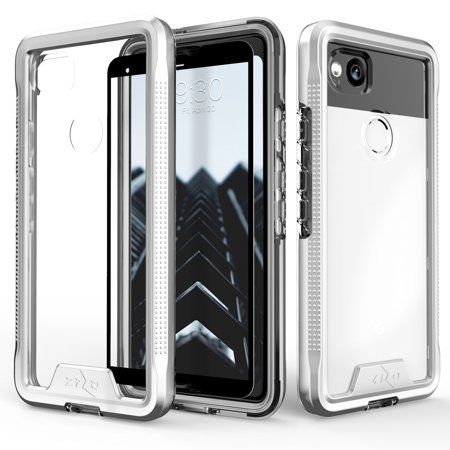 Zizo ION Series Google Pixel 2 Case - Military Grade Drop Tested with Clear Tempered Glass Screen Protector - Pixel Nerd Glasses
