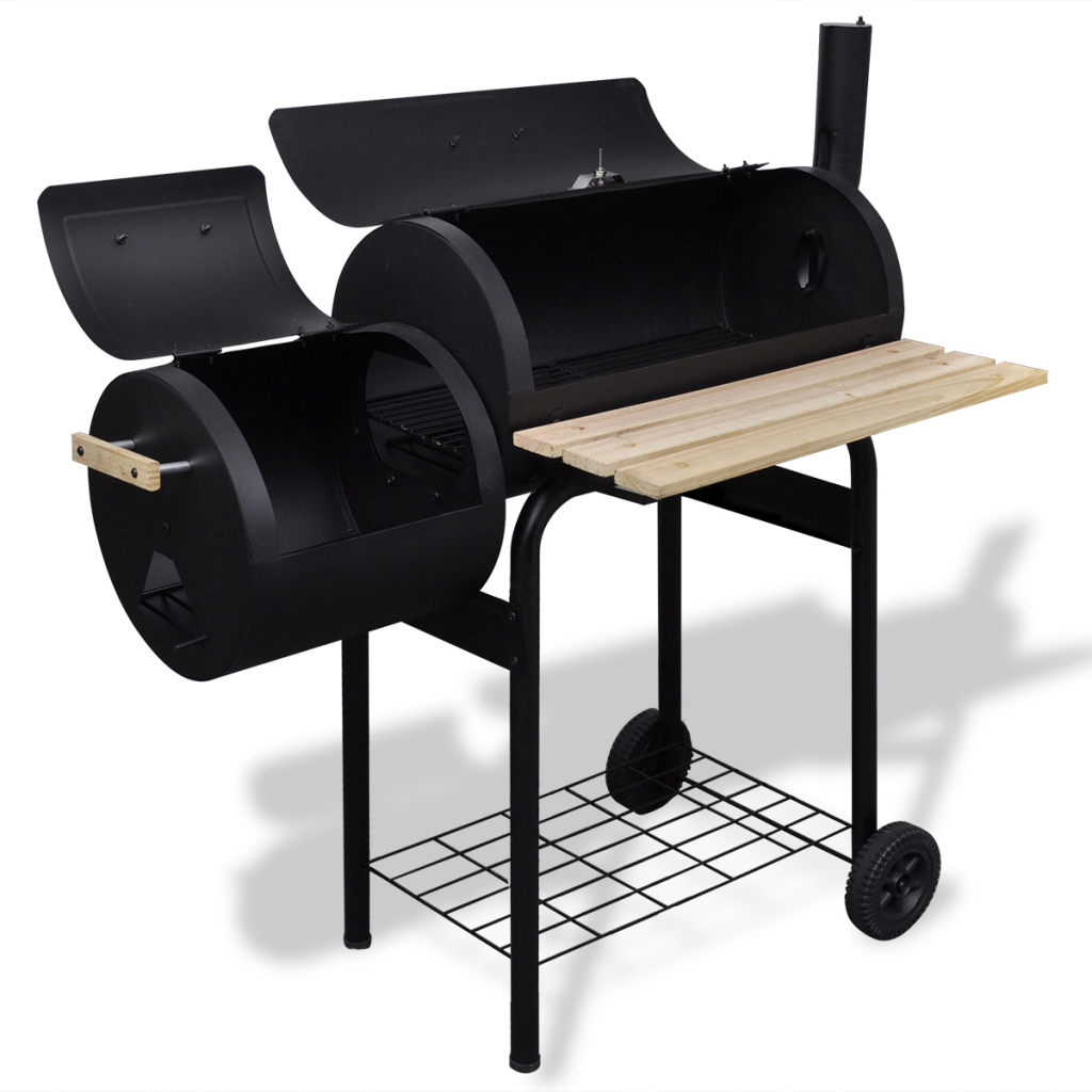 Outdoor BBQ Charcoal Offset Smoker