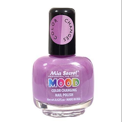 Mia Secret Mood Nail Lacquer Color Changing Nail Polish Violet to Lilac