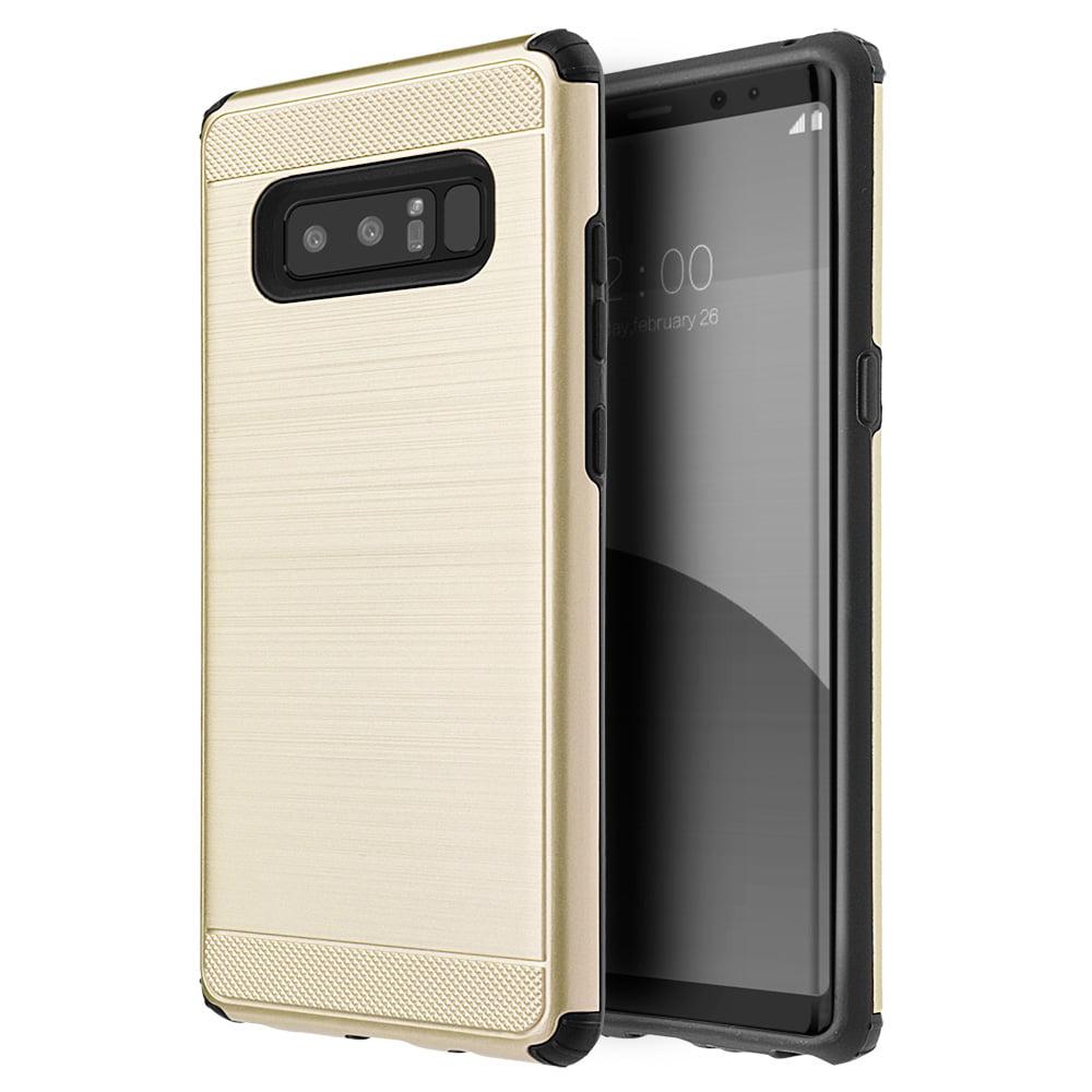 Samsung Galaxy Case,Premium Hybrid Dual Layer Slim Designed Cover Heavy Duty Armor Back Case (Shockproof, Raised Bezel, Anti Scratch) for Samsung Galaxy Note 8 SM -N950U - Gold