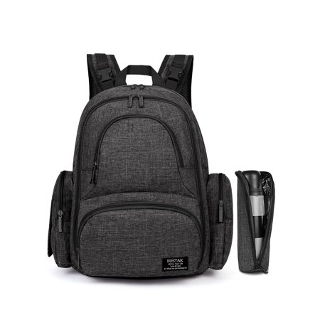 dd0b5f3bc6 FOSTAK Baby Backpack Diaper FOSTAK Big Capacity Diaper Bag for Moms Baby Diaper  Bag(Black) - Walmart.com