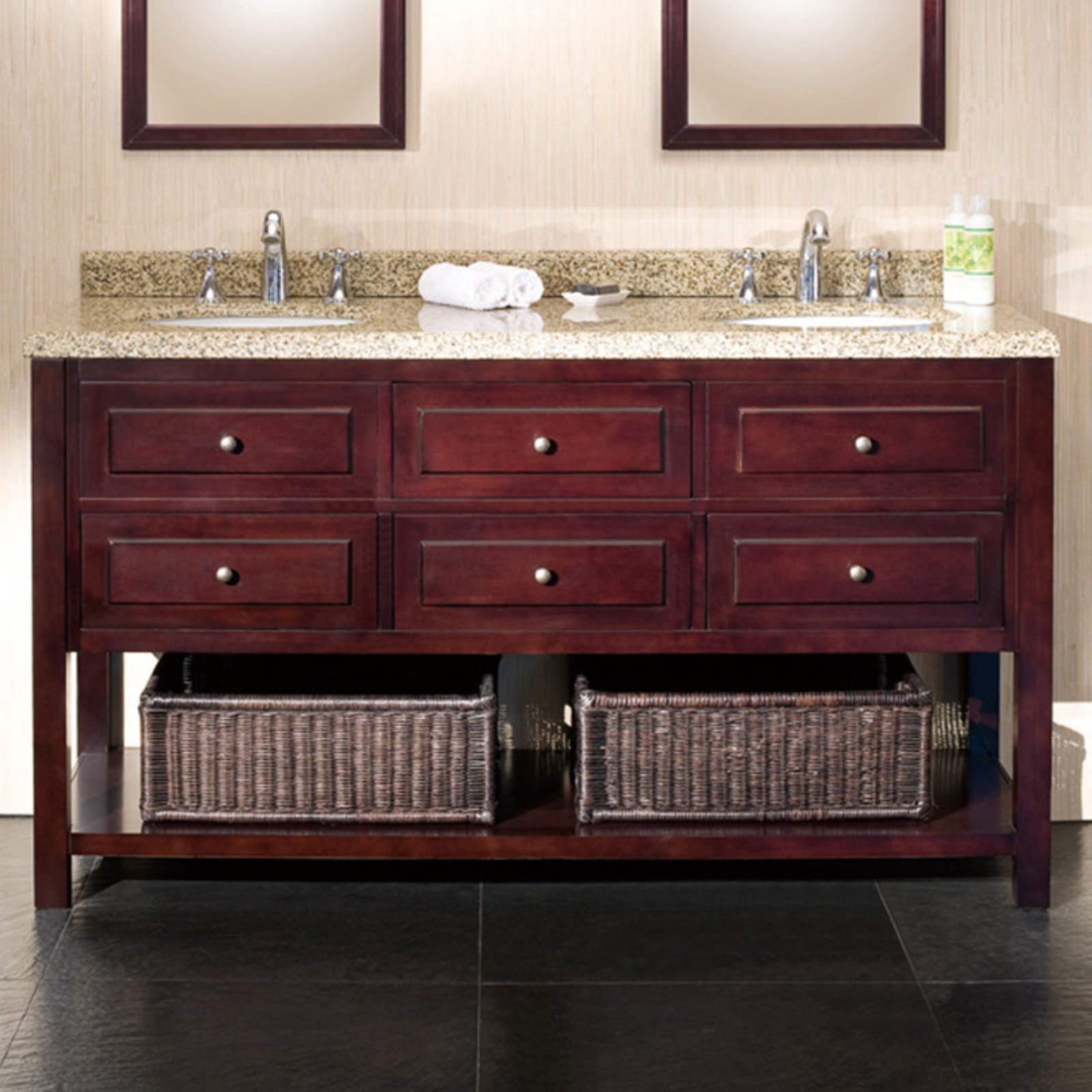 Ove Decors Danny 60-in. Double Bathroom Vanity - Walmart.com