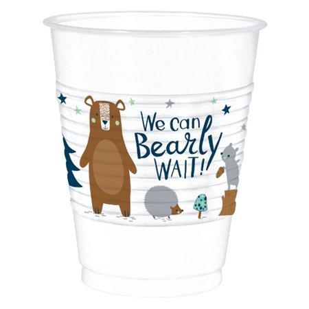 Baby Shower 'We Can Bear-ly Wait' 16oz Plastic Cups (25ct) ()