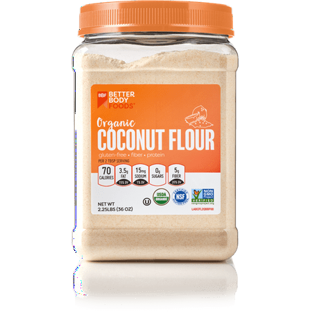 BetterBody Foods Organic Coconut Flour, Gluten-Free, 2.25 lbs
