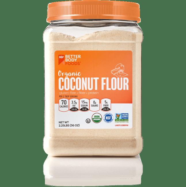 BetterBody Foods Organic Coconut Flour, 2.25 lbs
