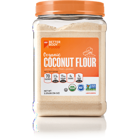 BetterBody Foods Organic Coconut Flour, 2.25 lbs - Walmart.com