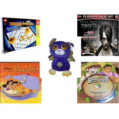Bat Magic - Children's Gift Bundle [5 Piece] -  Words With Friends by Hasbro  - Criss Angel Platinum Magic Kit  - Sugarloaf s Trick or Treat Bat  11