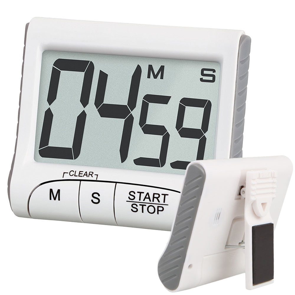 Digital Kitchen Timer & Stopwatch, Large LCD Display Digits, Loud Alarm, Magnetic Stand by EEEKit