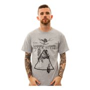 Black Scale Mens The Ninth Gate Graphic T-Shirt, grey, Small