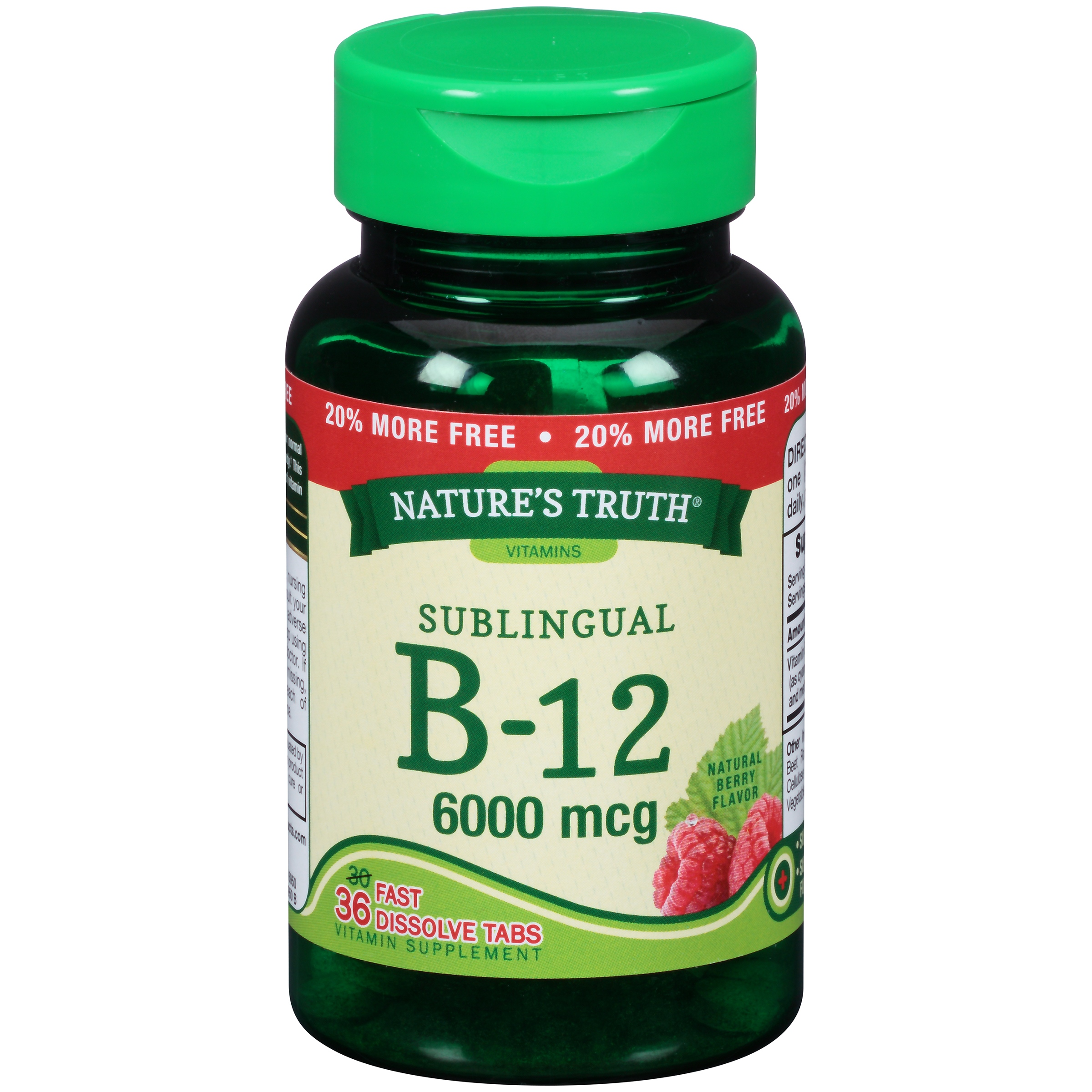 Nature's Truth® Sublingual B-12 6000mcg Vitamin Supplement Fast Dissolve Tabs 36 ct Bottle