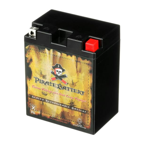 Pirate Battery Yb14l A2 14l A2 12 Volt 14 Ah 190 Cca Sealed Agm Jet Ski Battery For Arctic Cat Models Walmart Com Walmart Com