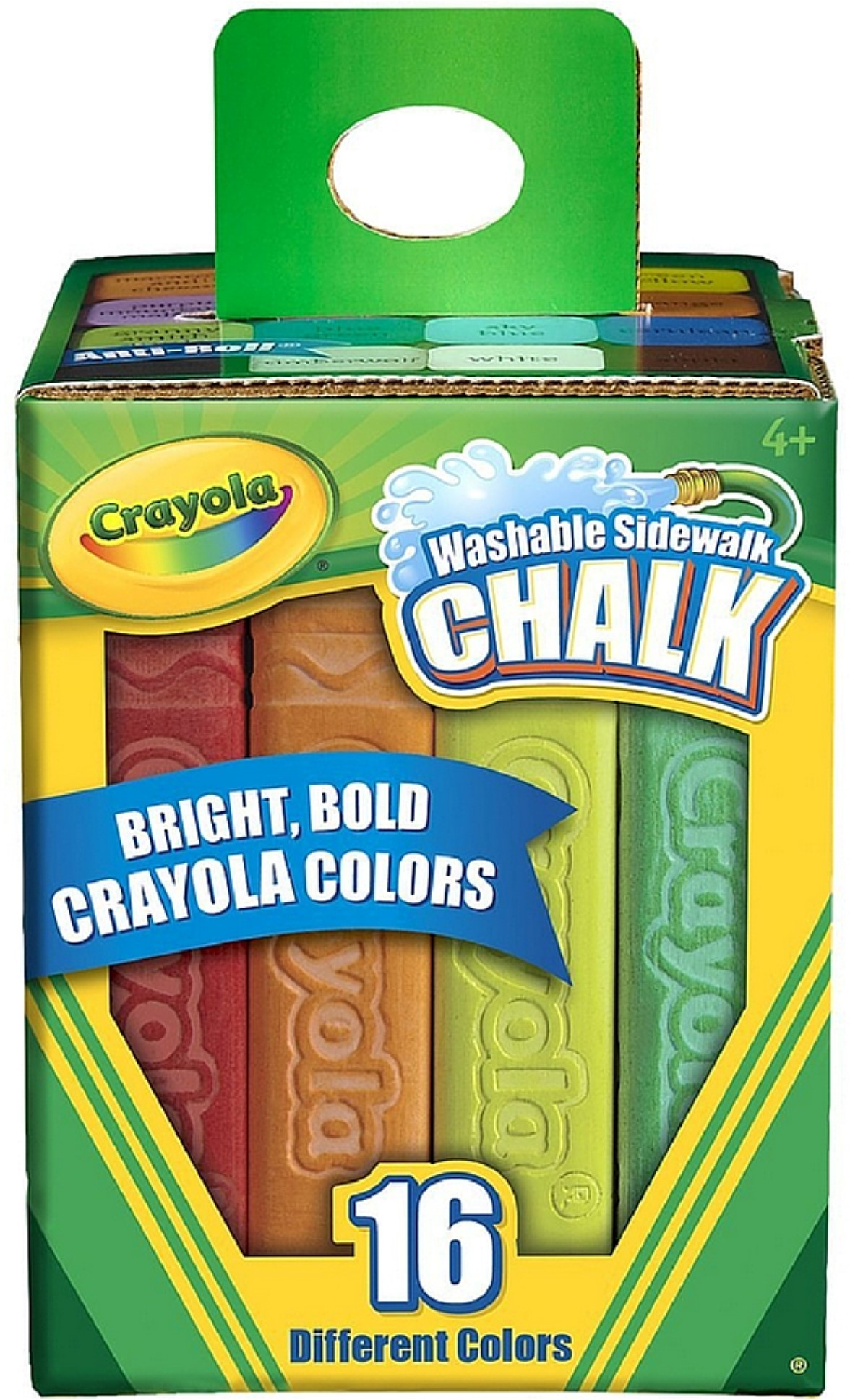 Crayola Washable Sidewalk Chalk, Assorted Colors 16 ea (Pack of 2 ...